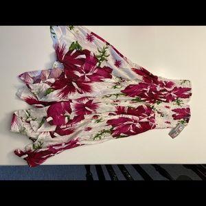 NWT Floral flowy strapless dress